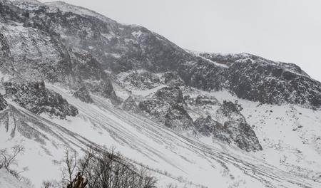 snow  Changbai Mountain scenery