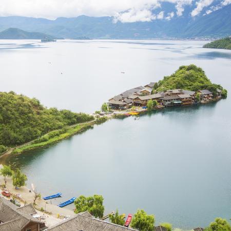 Yunnan Lugu Lake scenery