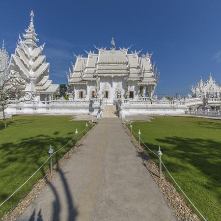 Thailand Chiengmai white temple Stock Photo