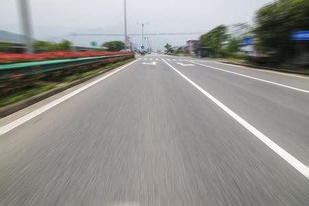 Winding asphalt road