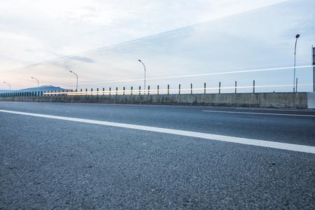 Sunset scenery at highway China Stock Photo