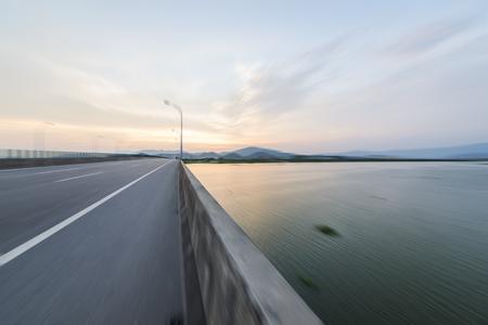 Highway sunset scenery