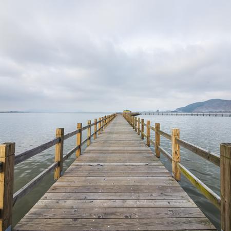 Sea wood bridge