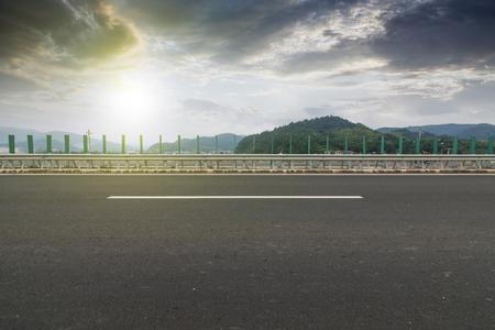 Sunset Urban Highway 免版税图像