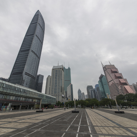 Tall city buildings at Shenzhen, China Banque d'images