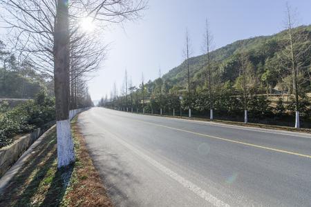 rural highway road Stok Fotoğraf