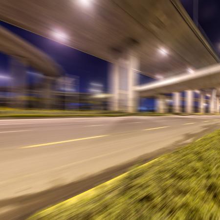 Night highway viaduct