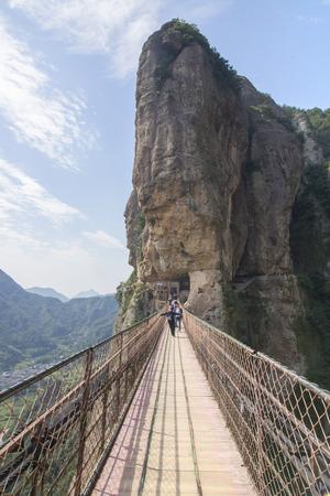 Chain bridge in Wenzhou Фото со стока