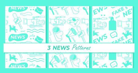 Seamless news vector Illustration , media, fake news.