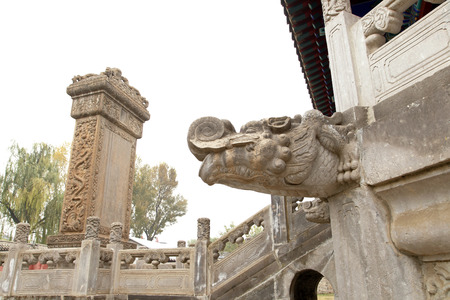 Ancient Chinese architecture stone, it is very beautiful photo