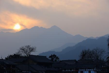 sichuan: Chengdu, Sichuan dujiangyan scenery Stock Photo