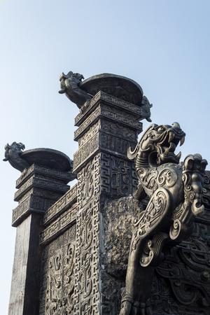 Ancient dragon sculpture