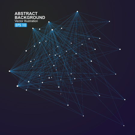 information point: abstract background with dots and lines