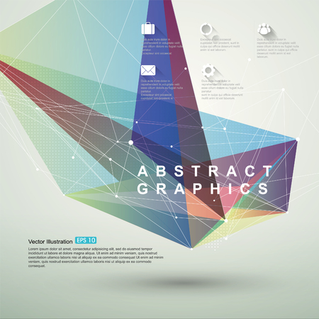 Point, line, surface composition of abstract graphics, infographics,illustration.