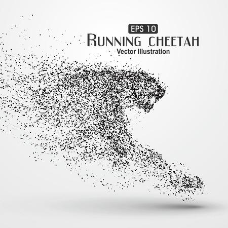 Particle Geparden, Illustration. Vektorgrafik