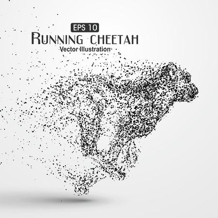chita: guepardo de partículas, la ilustración.