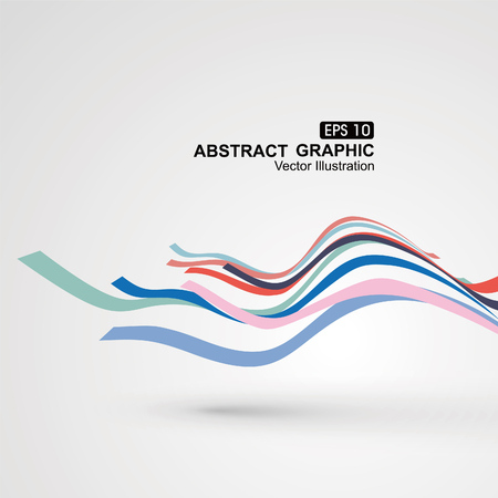 カラフルな曲線構成の視点のグラフィックのセンスがあります。  イラスト・ベクター素材