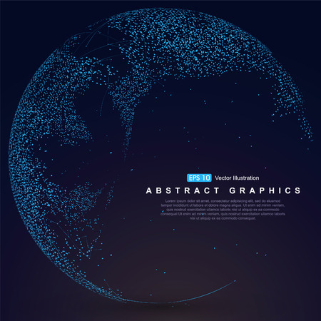 World map point, line, composition, representing the global, Global network connection,international meaning. Ilustrace