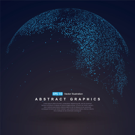 Świat punkt na mapie, wiersz, skład, reprezentujących globalne, globalne połączenia sieciowego, międzynarodowe znaczenie.