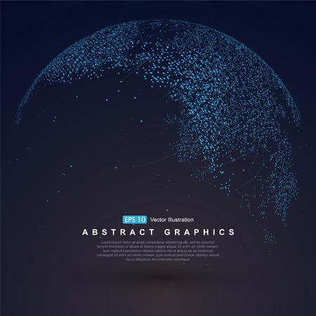 Carte du monde point, la ligne, la composition, ce qui représente la connexion réseau mondial global, sens international.
