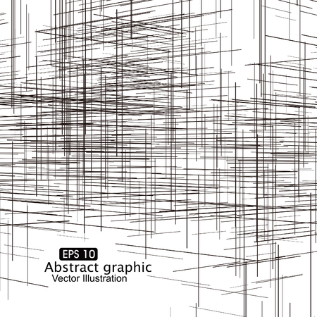 sense of space: With perspective lines composition abstract graphics.