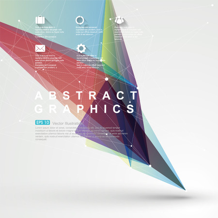 Point, line, surface composition of abstract graphics, Vector background.