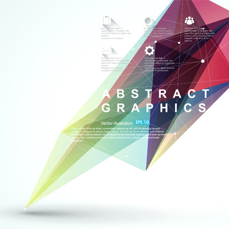 Point, line, surface composition of abstract graphics, infographics,illustration. Illustration