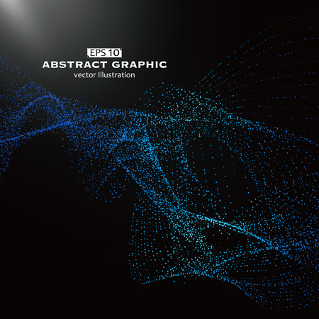 Dot pattern composed of mesh,Technological sense of abstract graphics