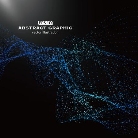 modelo de punto compuesto por malla, el sentido Tecnológico de gráficos abstractos Ilustración de vector