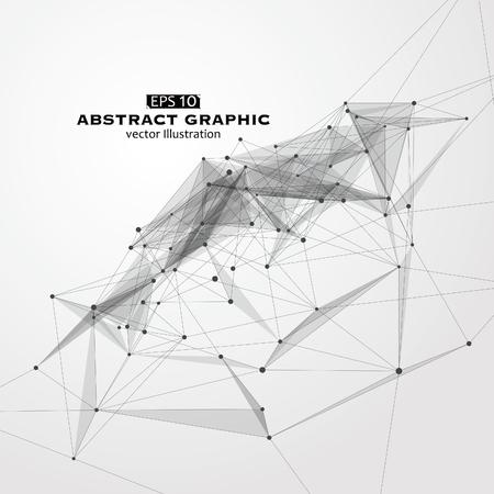 Dot, linea e superficie costituita da grafica astratta.
