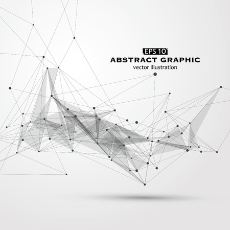 Dot, line and surface consisting of abstract graphics.