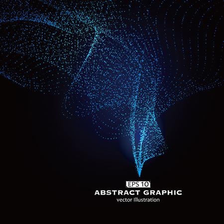 modèle Dot composé de maille, le sens technologique des graphiques abstraits