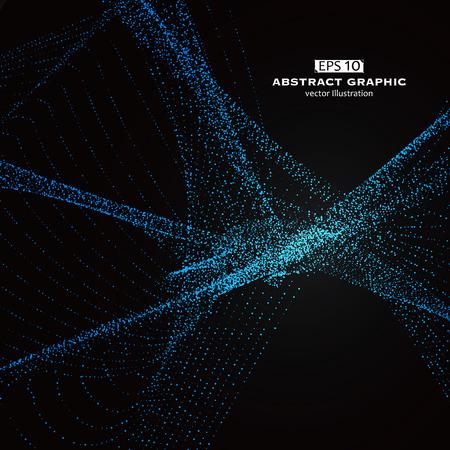 modèle Dot composé de maille, le sens technologique des graphiques abstraits Vecteurs