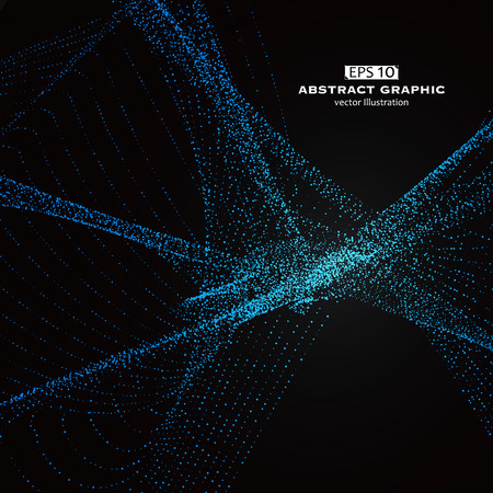 Dot pattern composed of mesh,Technological sense of abstract graphics Illustration