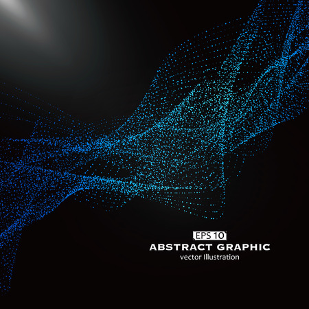 Dot pattern composed of mesh,Technological sense of abstract graphics Çizim