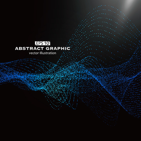 curve: Dot pattern composed of mesh,Technological sense of abstract graphics Illustration