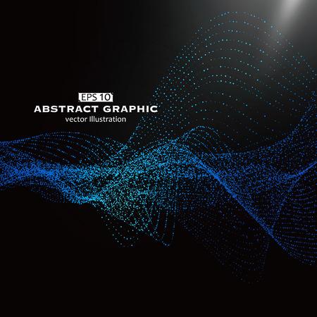 Dot wzór składa się z siatki, poczucie technologiczny abstrakcyjnych grafik Ilustracje wektorowe