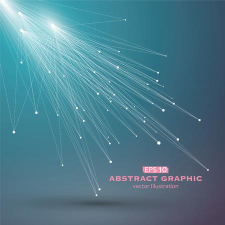 Dot en lijn bestaande uit abstracte graphics.