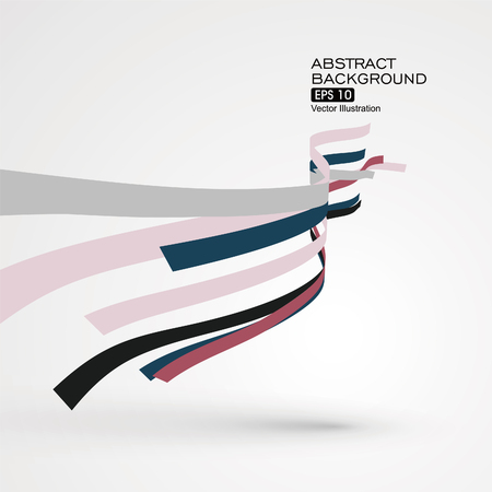 staggered: Colourful curve composition have a sense of perspective graphic.