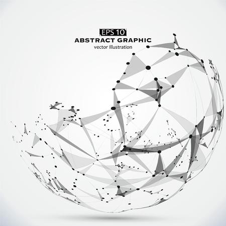 Punkt, Linie und Fläche konstruiert, um die technologischen Sinn abstrakte Darstellung.