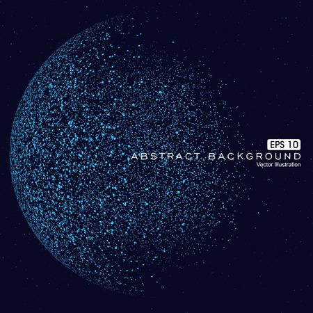 Punkt konstruiert, um die Kugel Drahtgitter-, technologischen Sinn abstrakte Darstellung. Vektorgrafik