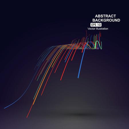 다채로운 곡선 조성물은 관점 그래픽의 감각을 가지고있다. 스톡 콘텐츠 - 52592516