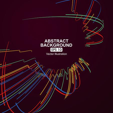 Kleurrijke kromme lijnen abstracte achtergrond