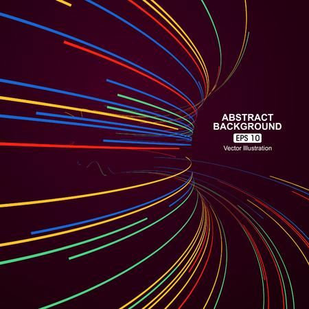 tunel: líneas curvas de colores de fondo abstracto