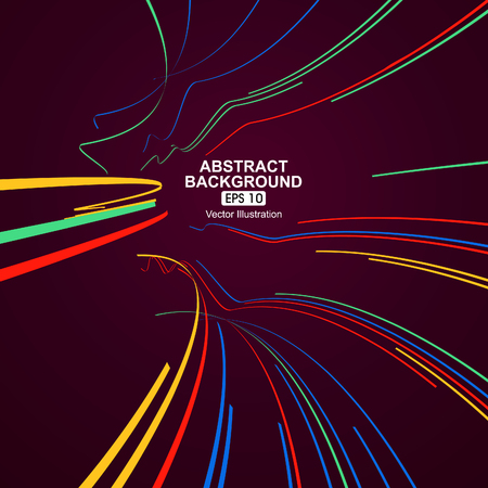 lignes courbes colorées abstrait