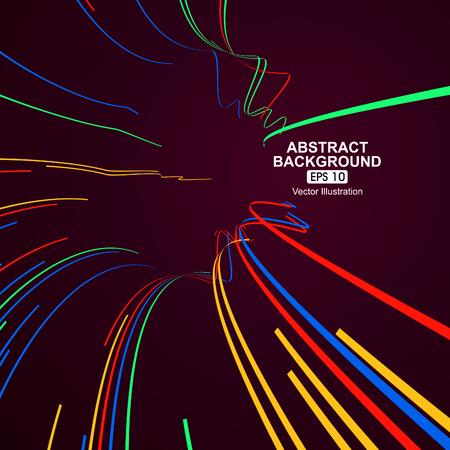 kurve: Bunte Kurve Linien abstrakten Hintergrund Illustration