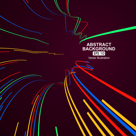 movement: Colourful curve lines abstract background