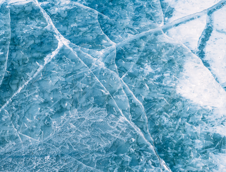 ice surface: Close-up of ice surface, abstract background.