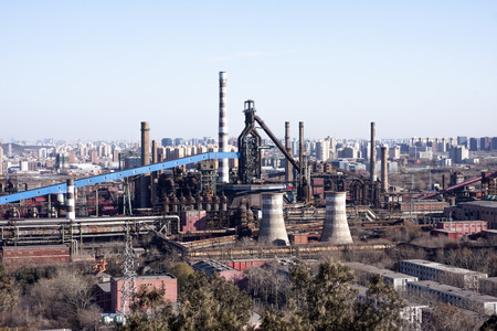 cement chimney: Factory panorama