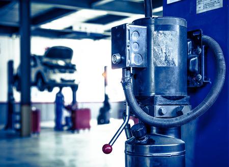 Auto repair shop corner,